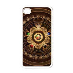 Gathering the Five Fractal Colors Of Magic Apple iPhone 4 Case (White)