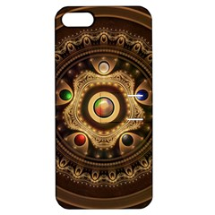 Gathering the Five Fractal Colors Of Magic Apple iPhone 5 Hardshell Case with Stand