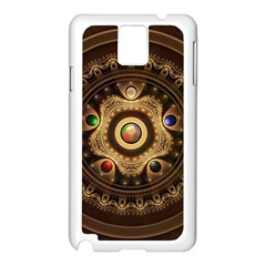 Gathering the Five Fractal Colors Of Magic Samsung Galaxy Note 3 N9005 Case (White)