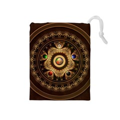 Gathering the Five Fractal Colors Of Magic Drawstring Pouches (Medium)