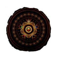 Gathering the Five Fractal Colors Of Magic Standard 15  Premium Flano Round Cushions