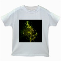 Beautiful Emerald Fairy Ferns In A Fractal Forest Kids White T Shirts