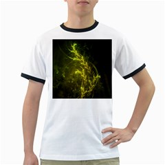 Beautiful Emerald Fairy Ferns in a Fractal Forest Ringer T-Shirts