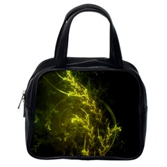 Beautiful Emerald Fairy Ferns in a Fractal Forest Classic Handbags (One Side)