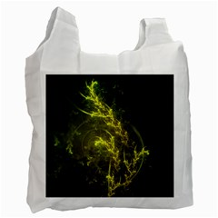 Beautiful Emerald Fairy Ferns in a Fractal Forest Recycle Bag (One Side)