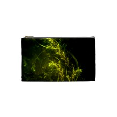 Beautiful Emerald Fairy Ferns in a Fractal Forest Cosmetic Bag (Small)