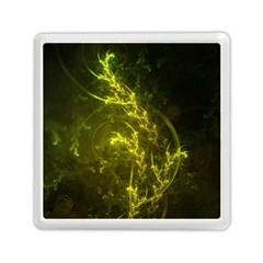 Beautiful Emerald Fairy Ferns in a Fractal Forest Memory Card Reader (Square)