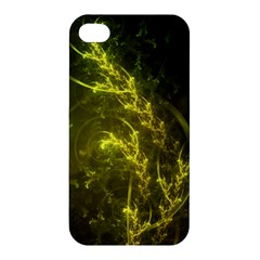 Beautiful Emerald Fairy Ferns in a Fractal Forest Apple iPhone 4/4S Premium Hardshell Case