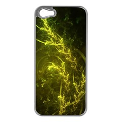 Beautiful Emerald Fairy Ferns in a Fractal Forest Apple iPhone 5 Case (Silver)
