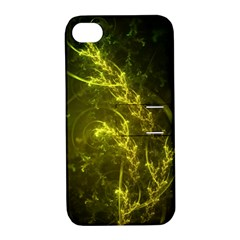 Beautiful Emerald Fairy Ferns In A Fractal Forest Apple Iphone 4/4s Hardshell Case With Stand