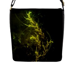 Beautiful Emerald Fairy Ferns in a Fractal Forest Flap Messenger Bag (L)