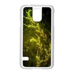 Beautiful Emerald Fairy Ferns in a Fractal Forest Samsung Galaxy S5 Case (White)