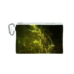 Beautiful Emerald Fairy Ferns in a Fractal Forest Canvas Cosmetic Bag (S)