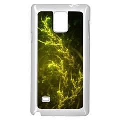Beautiful Emerald Fairy Ferns in a Fractal Forest Samsung Galaxy Note 4 Case (White)