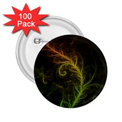 Fractal Hybrid Of Guzmania Tuti Fruitti and Ferns 2.25  Buttons (100 pack)