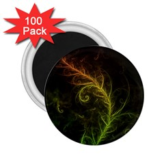 Fractal Hybrid Of Guzmania Tuti Fruitti and Ferns 2.25  Magnets (100 pack)