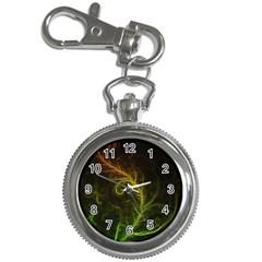 Fractal Hybrid Of Guzmania Tuti Fruitti and Ferns Key Chain Watches