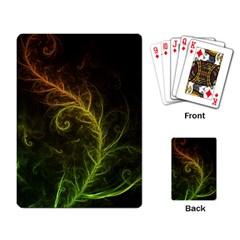 Fractal Hybrid Of Guzmania Tuti Fruitti And Ferns Playing Card