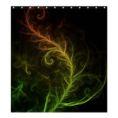 Fractal Hybrid Of Guzmania Tuti Fruitti And Ferns Shower Curtain 66  X 72  (large)