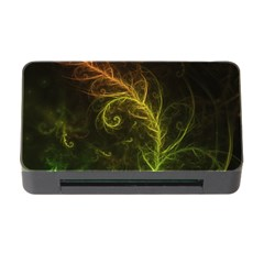 Fractal Hybrid Of Guzmania Tuti Fruitti and Ferns Memory Card Reader with CF