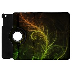 Fractal Hybrid Of Guzmania Tuti Fruitti and Ferns Apple iPad Mini Flip 360 Case