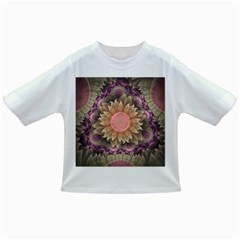 Pastel Pearl Lotus Garden of Fractal Dahlia Flowers Infant/Toddler T-Shirts