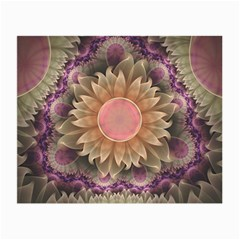 Pastel Pearl Lotus Garden of Fractal Dahlia Flowers Small Glasses Cloth (2-Side)