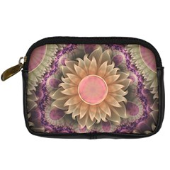 Pastel Pearl Lotus Garden Of Fractal Dahlia Flowers Digital Camera Cases