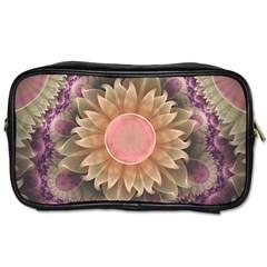 Pastel Pearl Lotus Garden of Fractal Dahlia Flowers Toiletries Bags 2-Side