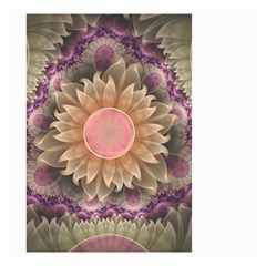 Pastel Pearl Lotus Garden of Fractal Dahlia Flowers Small Garden Flag (Two Sides)