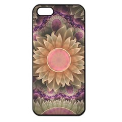 Pastel Pearl Lotus Garden of Fractal Dahlia Flowers Apple iPhone 5 Seamless Case (Black)