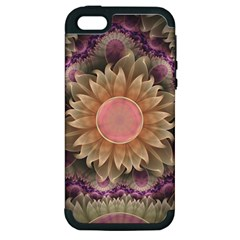 Pastel Pearl Lotus Garden of Fractal Dahlia Flowers Apple iPhone 5 Hardshell Case (PC+Silicone)