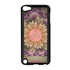Pastel Pearl Lotus Garden of Fractal Dahlia Flowers Apple iPod Touch 5 Case (Black)