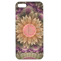 Pastel Pearl Lotus Garden of Fractal Dahlia Flowers Apple iPhone 5 Hardshell Case with Stand