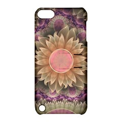 Pastel Pearl Lotus Garden of Fractal Dahlia Flowers Apple iPod Touch 5 Hardshell Case with Stand