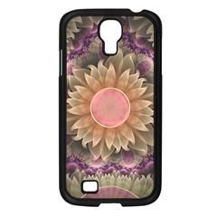 Pastel Pearl Lotus Garden of Fractal Dahlia Flowers Samsung Galaxy S4 I9500/ I9505 Case (Black)