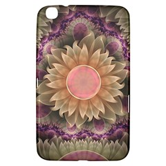 Pastel Pearl Lotus Garden of Fractal Dahlia Flowers Samsung Galaxy Tab 3 (8 ) T3100 Hardshell Case