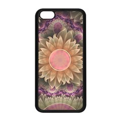 Pastel Pearl Lotus Garden of Fractal Dahlia Flowers Apple iPhone 5C Seamless Case (Black)