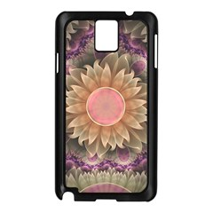 Pastel Pearl Lotus Garden of Fractal Dahlia Flowers Samsung Galaxy Note 3 N9005 Case (Black)