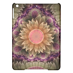 Pastel Pearl Lotus Garden of Fractal Dahlia Flowers iPad Air Hardshell Cases