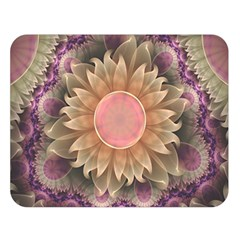 Pastel Pearl Lotus Garden of Fractal Dahlia Flowers Double Sided Flano Blanket (Large)