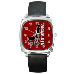 Absolute ghetto Square Metal Watch