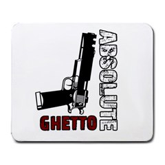 Absolute ghetto Large Mousepads