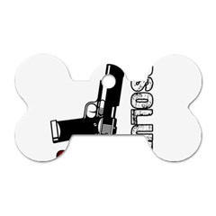 Absolute ghetto Dog Tag Bone (Two Sides)