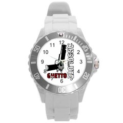 Absolute ghetto Round Plastic Sport Watch (L)