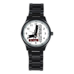 Absolute ghetto Stainless Steel Round Watch