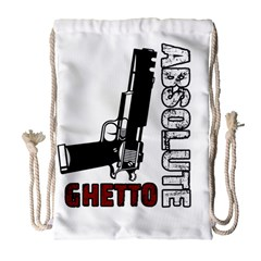 Absolute ghetto Drawstring Bag (Large)