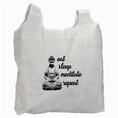 Eat, sleep, meditate, repeat  Recycle Bag (One Side)