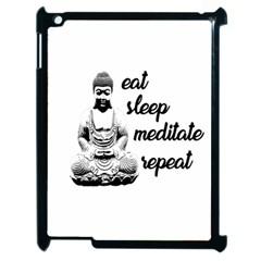 Eat, sleep, meditate, repeat  Apple iPad 2 Case (Black)