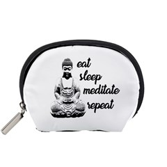 Eat, sleep, meditate, repeat  Accessory Pouches (Small)